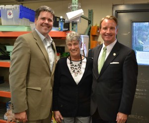 From left to right, Senator P.K. Martin, North Fulton Community Charities Executive Director Barbara Duffy, Senator John Albers